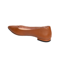 Courageous Caramel Leather Flat