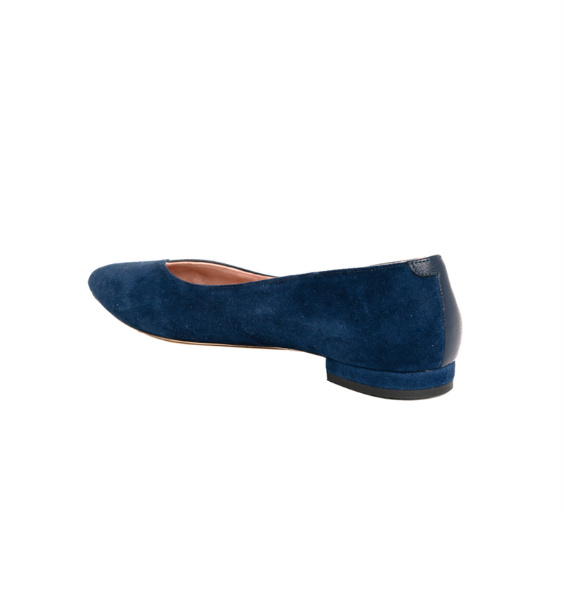 Noble Navy Suede / Good Night Navy Leather Flat - Comfortable Flats - Ally Shoes