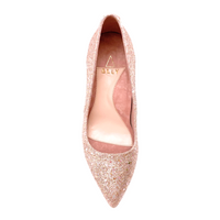 Rose Gold Blush Block Heel Pump