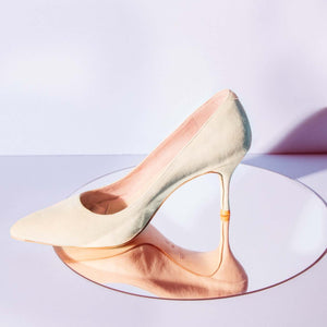 Prowess Pearl Suede Pump - Comfortable Heels - Ally Shoes