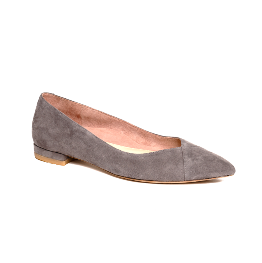 Seize the Gray Suede Flat - Comfortable Flats - Ally Shoes