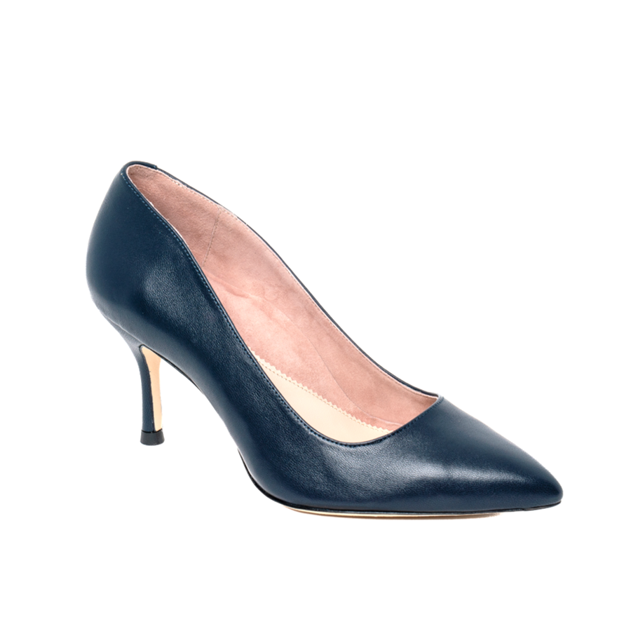 Good Night Navy Leather Pump