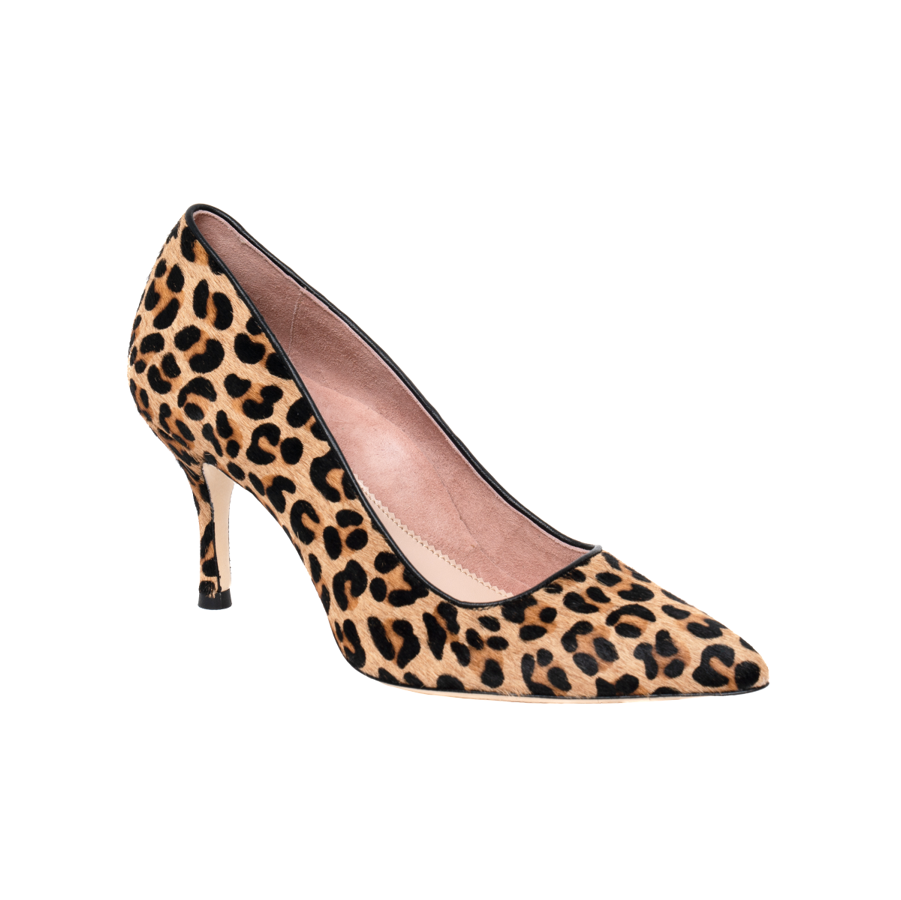 Fierce Leopard Haircalf Pump - Comfortable Heels - Ally Shoes