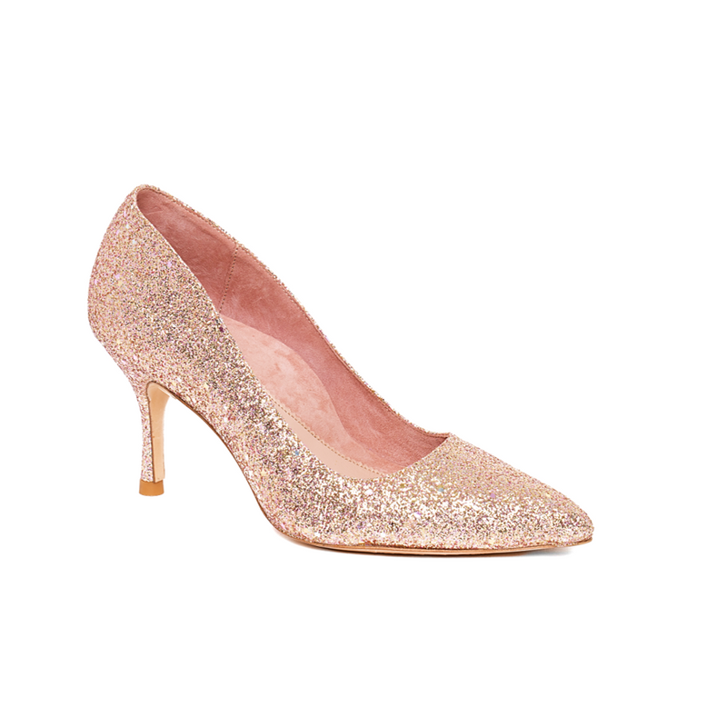 Rose Gold Blush Pump - Comfortable Heels - Ally Shoes