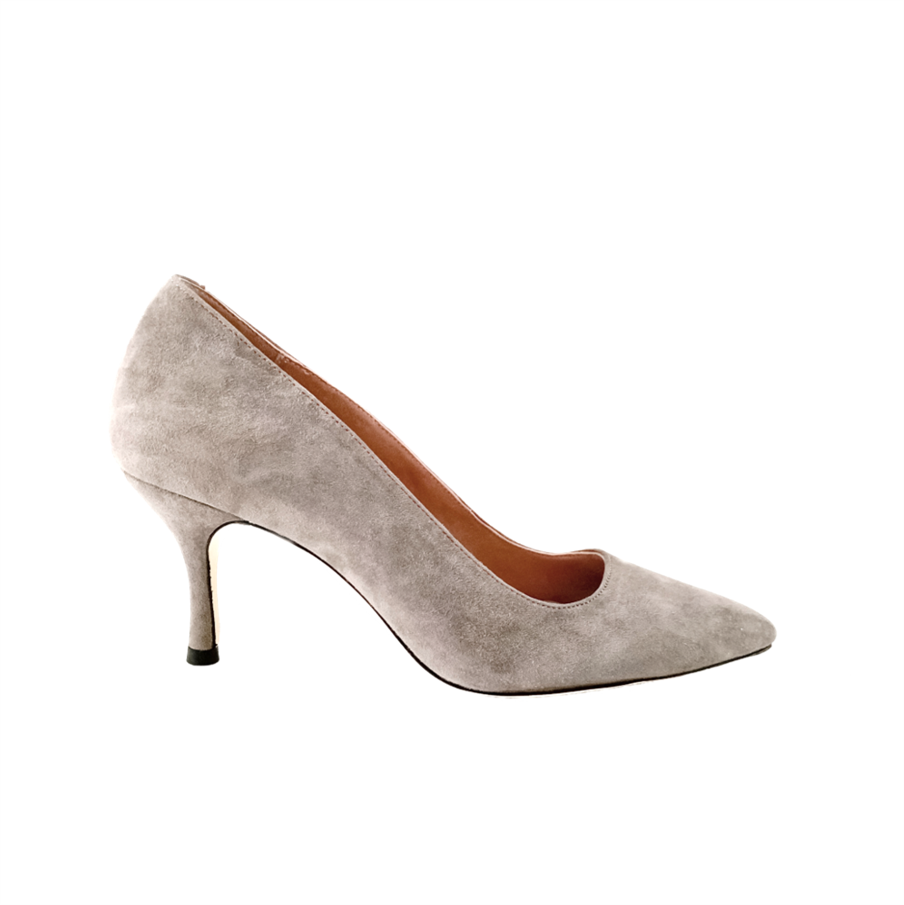Seize the Gray Suede Pump