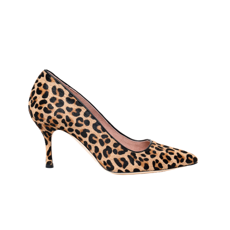 Fierce Leopard Haircalf Pump