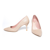 [SAMPLE] Bossy Beige Leather Pump