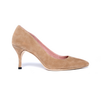[SAMPLE] Tenacious Tan Suede Pump