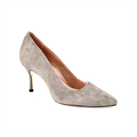 Seize the Gray Suede Pump - Comfortable Heels - Ally Shoes