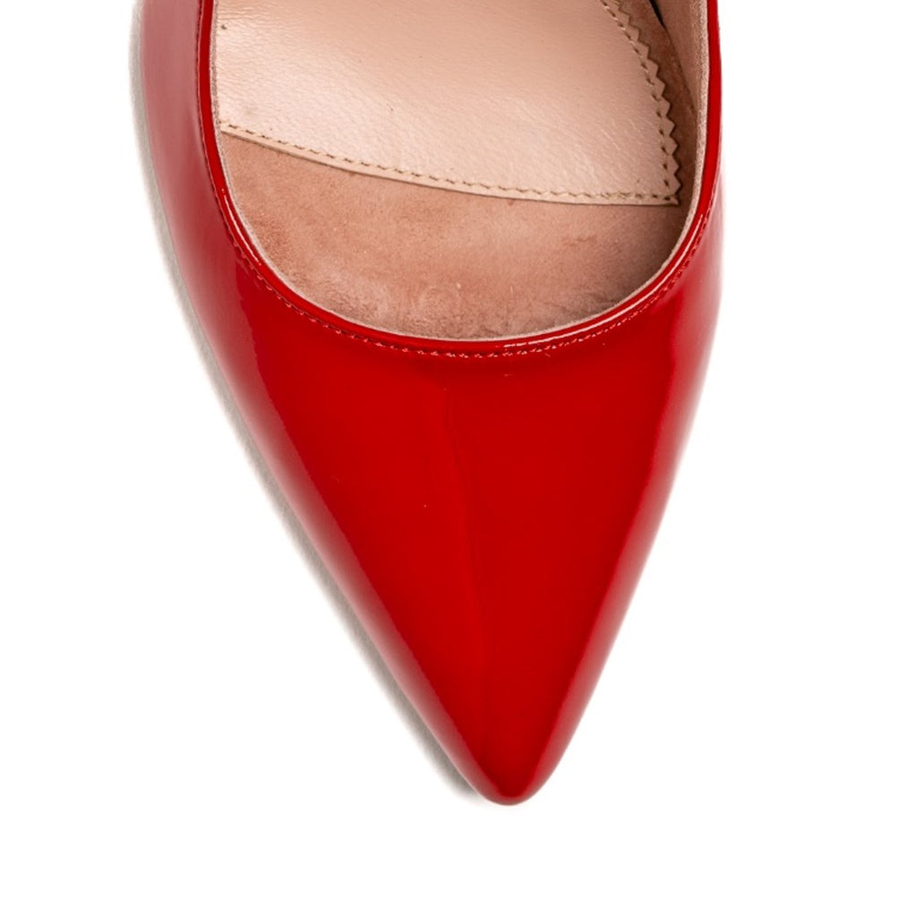Red Patent Leather Mary Jane Pump