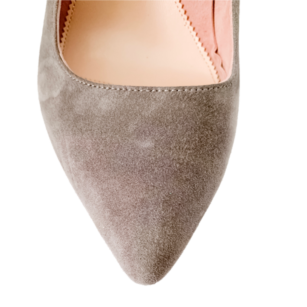 Seize the Gray Suede Mary Jane Pump
