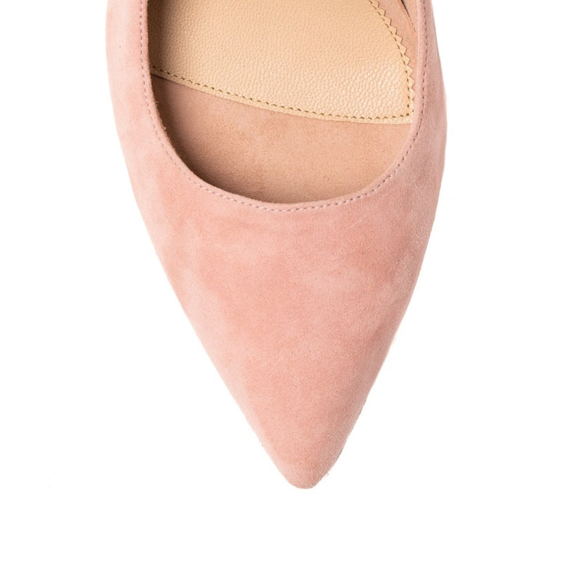 Blissful Blush Suede Ankle Strap Pump