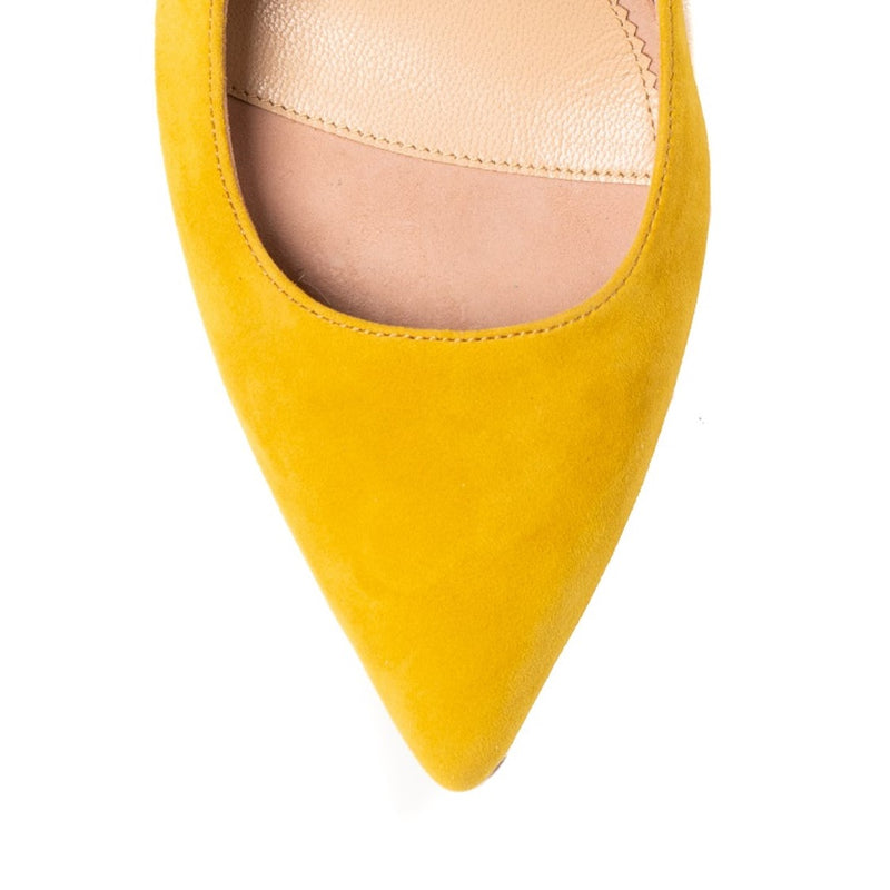Sassy Saffron Suede Mary Jane Pump