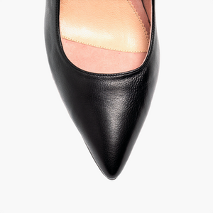 Black Leather Mary Jane Pump