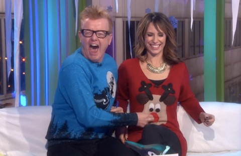 Once Show BBC1 Christmas Jumpers Alex Jones