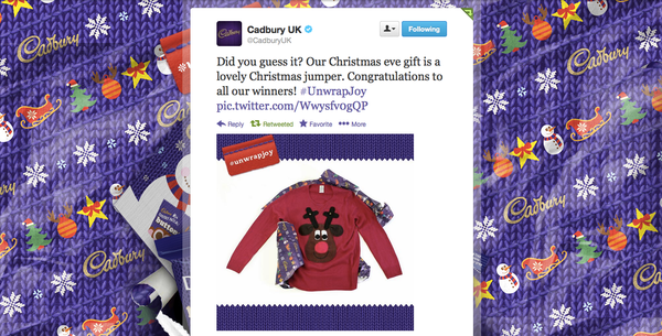 Cadbury's Christmas Jumper competition Twitter