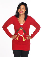 Christmas Jumper Dress Robin