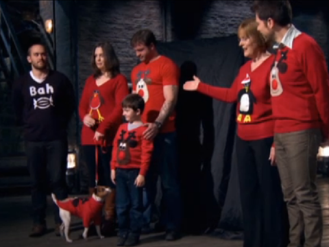 Dragons Den Christmas Jumpers BBC2