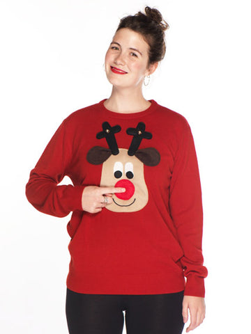 Men's Christmas Jumper Worn by Lady