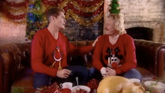 Christmas Jumpers Celebrity Juice Woolly Babs
