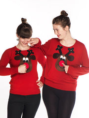 Womens Rudolph Christmas Jumpers