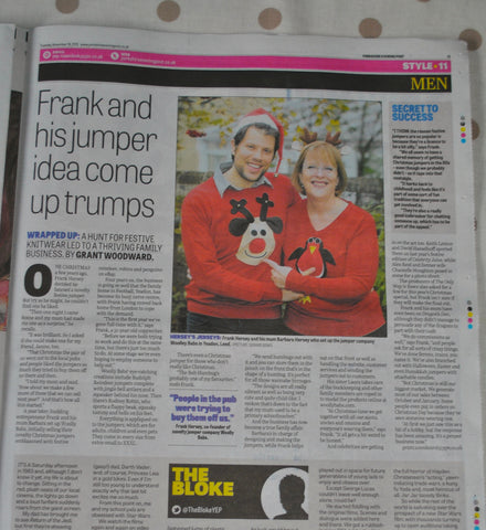 Woolly Babs Christmas Jumpers Yorkshire Evening Post Article