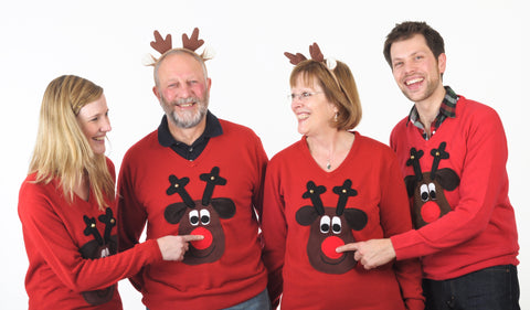 Christmas jumpers by Woolly Babs