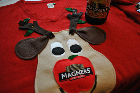 magners christmas jumpers by woolly babs