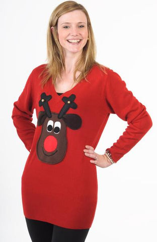 Rudolph Christmas Jumper Dress