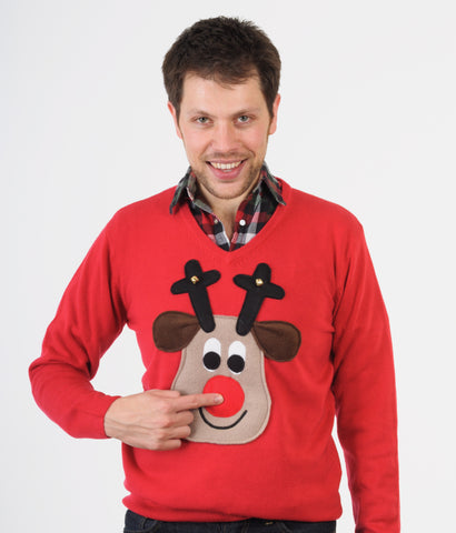 Woolly Babs Rudolph Christmas Jumper