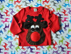 SOLD OUT Baby Christmas Jumper Rudolph Brown