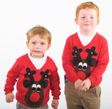 Kids' Rudolph Brown Christmas Jumper