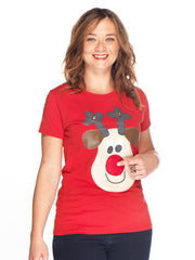 SOLD OUT Christmas Tshirt Ladies Rudolph