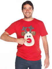 Christmas Tshirt Men's Rudolph