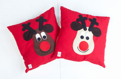 Christmas Cushions with Rudolph