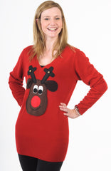 SOLD OUT Christmas Jumper Dress Rudolph Brown