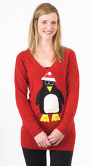 SOLD OUT Christmas Jumper Dress Pablo Penguin