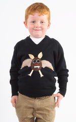 Kids Halloween Jumper Bertie Bat
