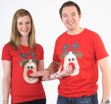 Christmas Tshirt Ladies Rudolph
