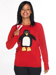 Ladies Christmas Jumper Pablo Penguin