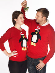 Men's Christmas Jumper Pablo Penguin Roundneck