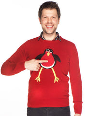 Men's Christmas Jumper Rodney Robin Roundneck