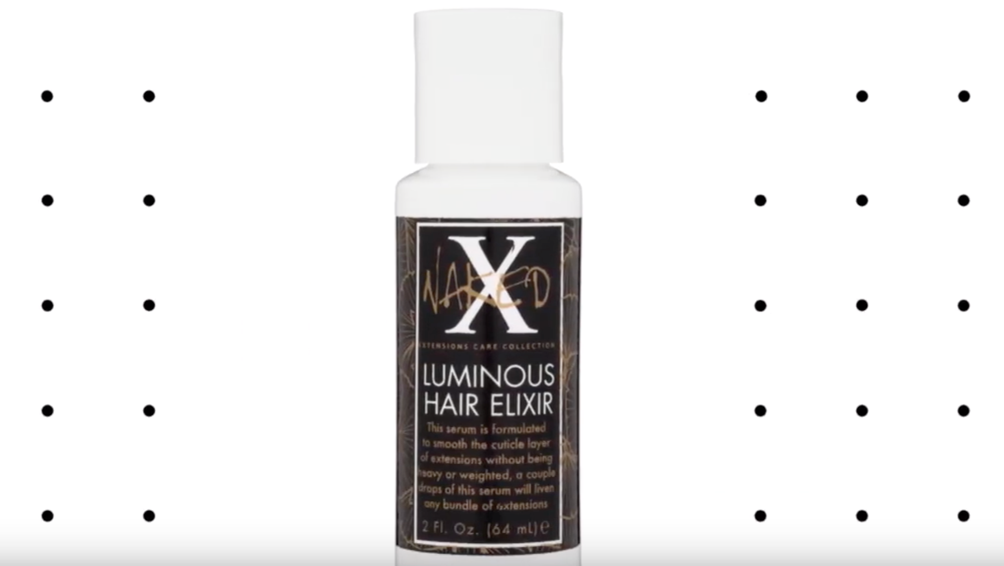 Naked X Luminous Hair Elixir - How to Add Shine to Dull Extensions