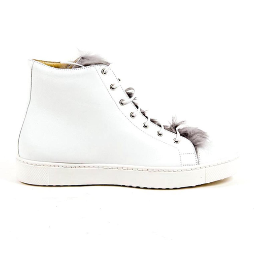 V 1969 Italia Womens High Sneaker NAPPA BIANCO - Winter Haven Co