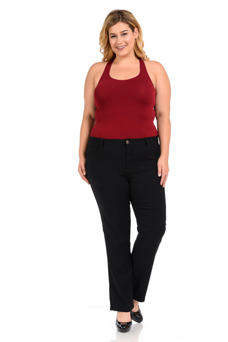 926 Women's Jeans - Plus Size - High Waist - Push Up - Straight - Winter Haven Co