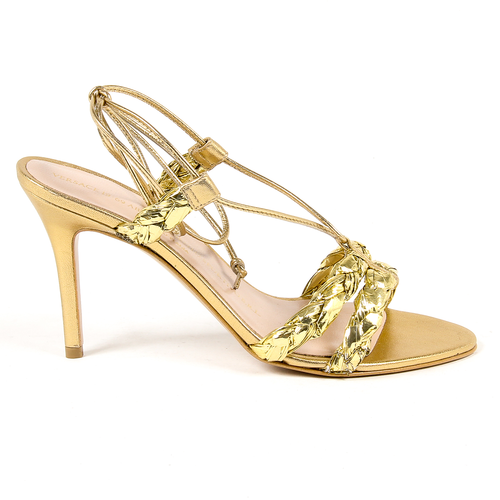 V 1969 Italia Womens Sandal Gold LETITIA - Winter Haven Co