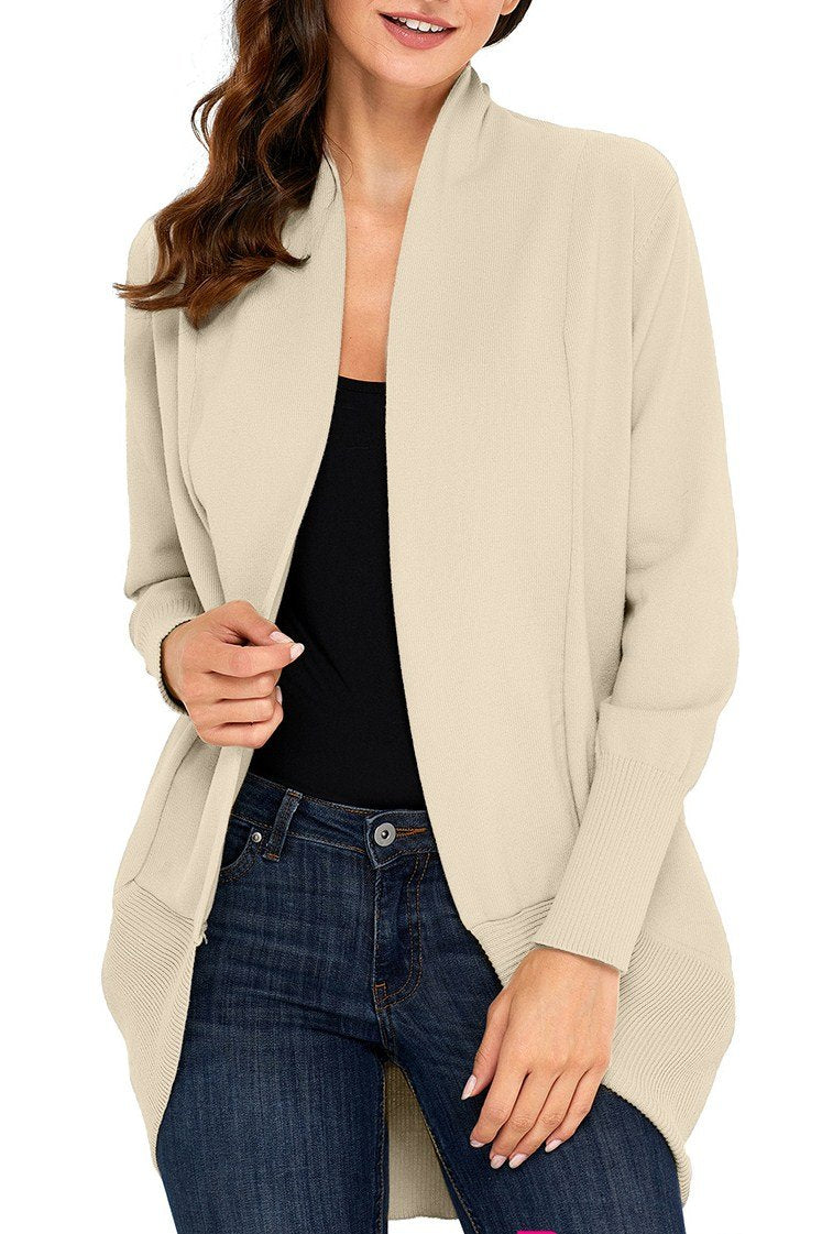 Apricot Super Soft Long Sleeve Open Cardigan - Winter Haven Co