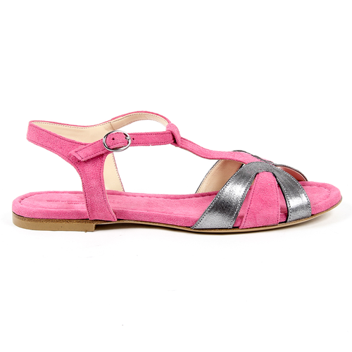 V 1969 Italia Womens Flat Sandal Fuxia GRAZIA - Winter Haven Co