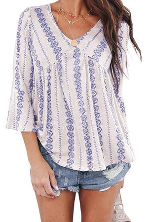Black White Valley of The Dolls Babydoll Blouse - Winter Haven Co