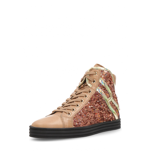 Hogan Womens Sneaker Brown Rebel - Winter Haven Co